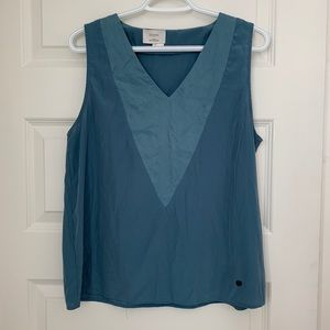 Beautiful blue sleeveless blouse tank